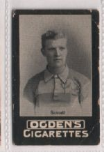 Cigarette insert card of famous sportsman Bassett